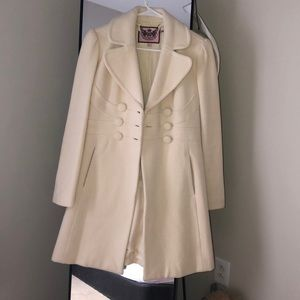 Juicy couture pea coat wool ivory